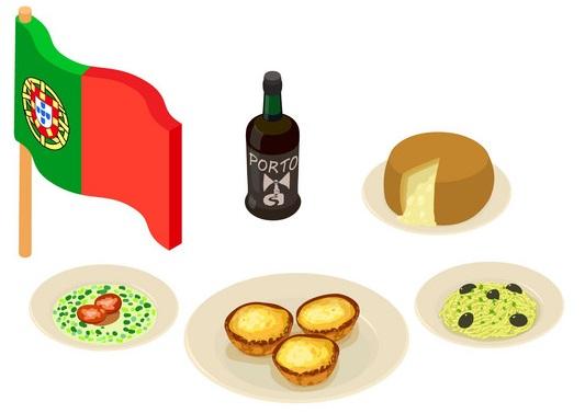 Alphabet portugais et gatronomie portugais
