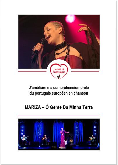 Fiche d'activités pdf gratuite - J'améliore ma compréhension du portugais européen en chanson - Mariza