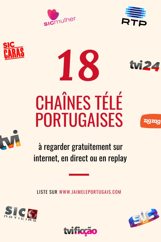 18 chaînes de télévision portugaises, à regarder gratuitement en ligne, en direct ou en replay  ✅ Généralistes ✅ Culturelles ✅ Info en continu ✅ Divertissement ✅ Fictions ✅ Téléréalités ✅ Pour les enfants ✅ Pour les femmes