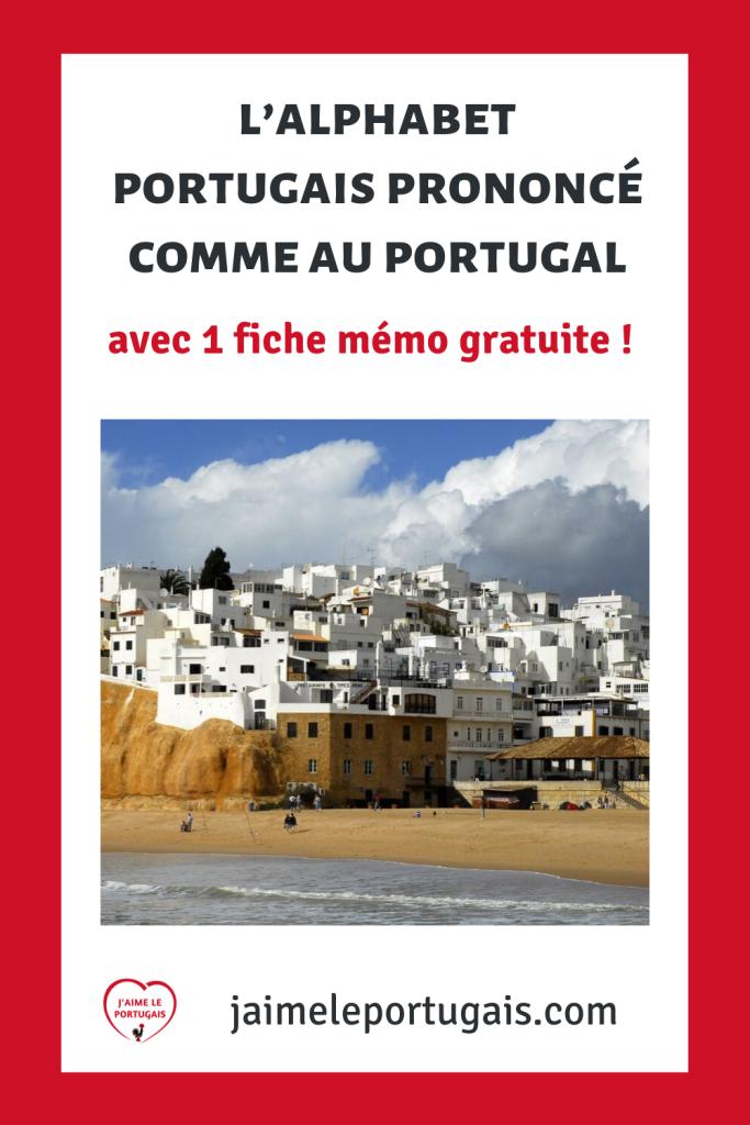 L'alphabet portugais prononcé comme au Portugal avec audio, exercice + 1 fiche de révision pdf gratuite