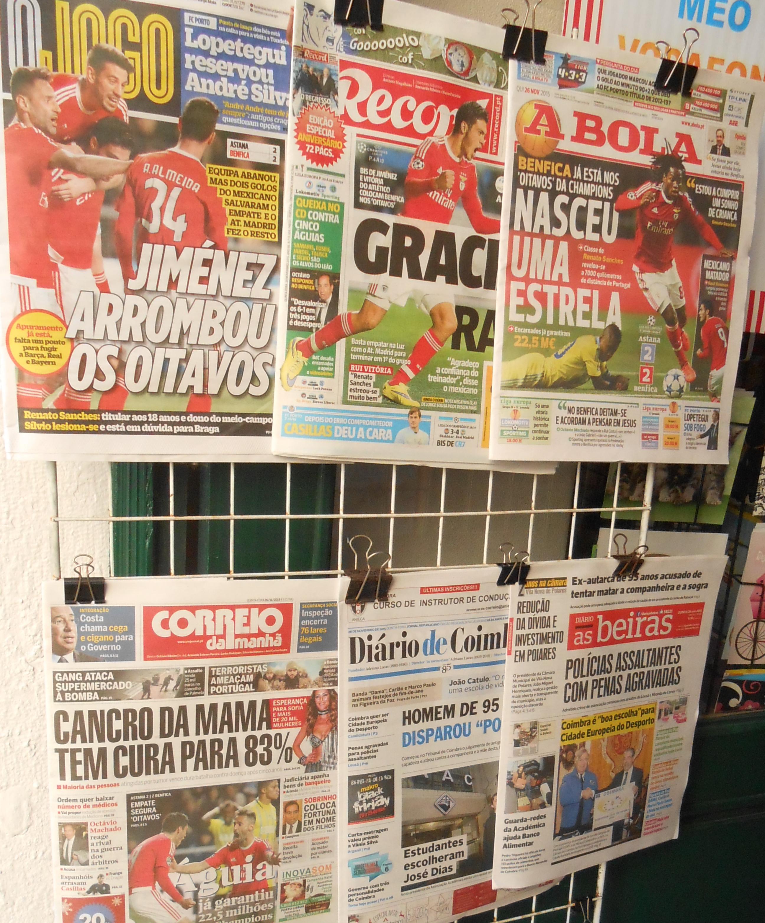 presse portugaise : journaux et magazines du Portugal à lire gratuitement en ligne