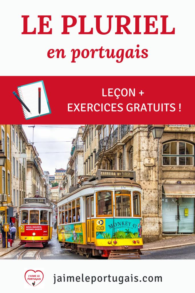 Le pluriel des noms et des adjectifs en portugais : leçon et exercices gratuits