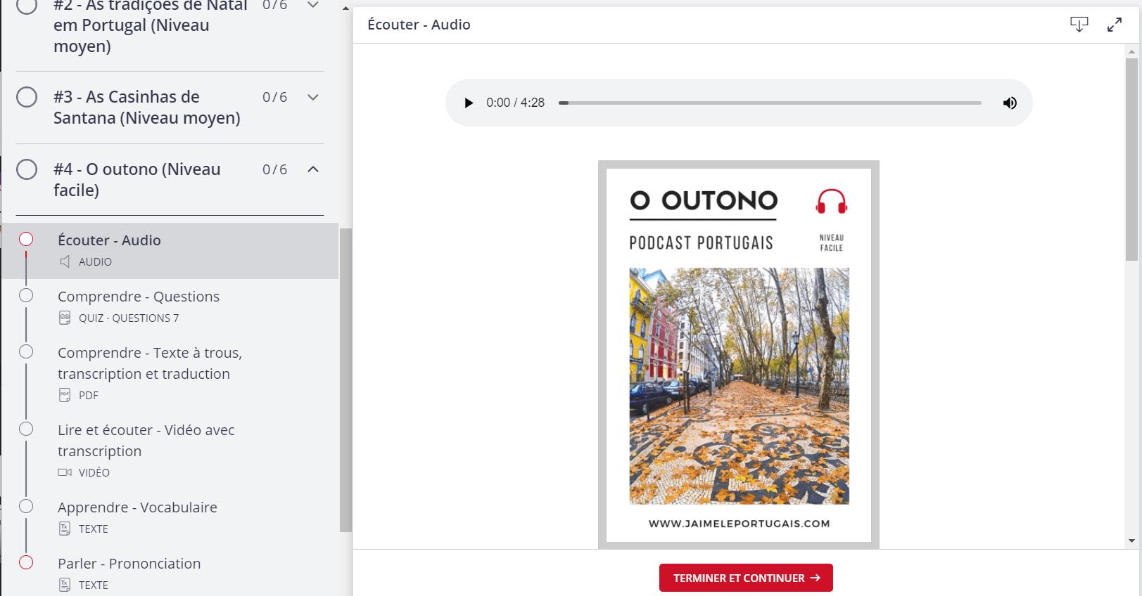 podcast portugais avec transcription et exercices de compréhension orale