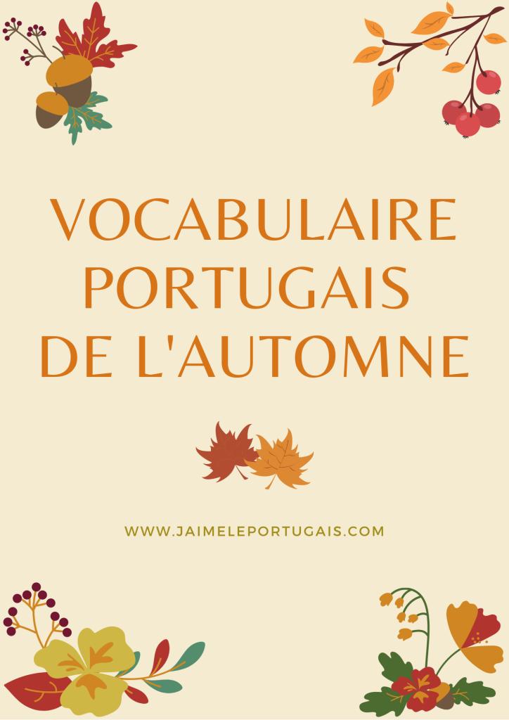 Le vocabulaire portugais de l'automne