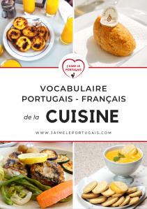 Vocabulaire portugais - français de la cuisine (ebook pdf)